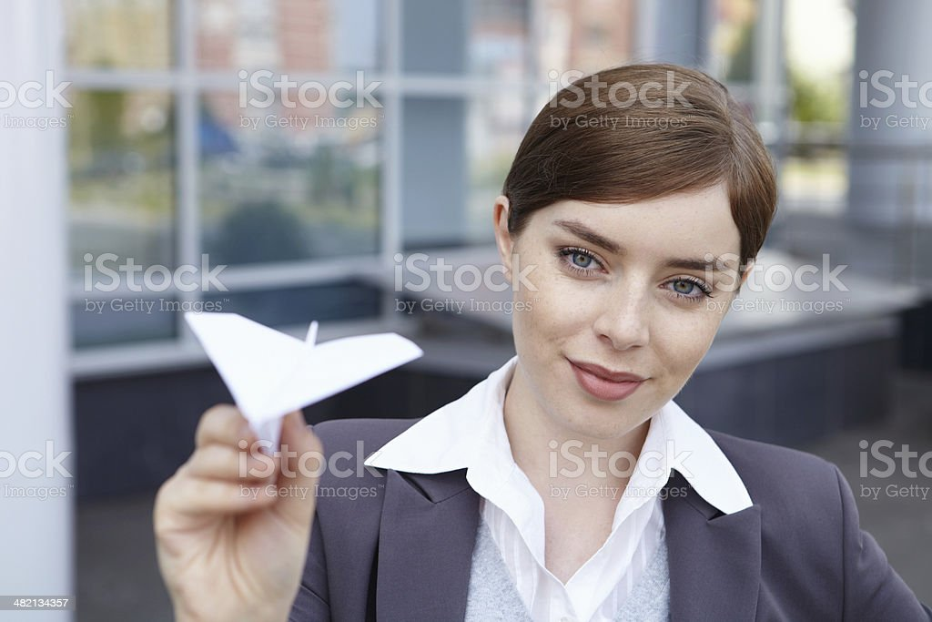 Business woman. 'New project' concept. royalty-free stock photo