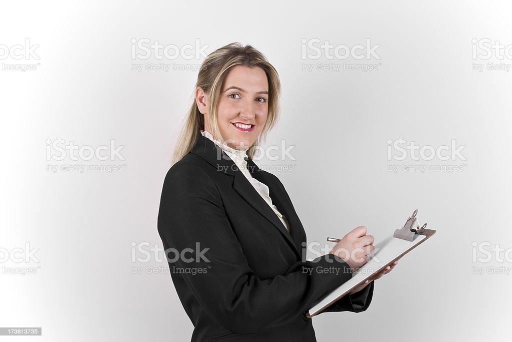 Business Woman Notes royalty-free stock photo