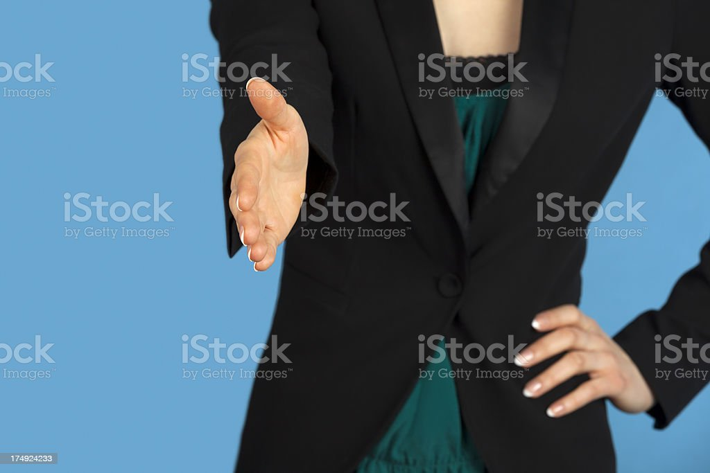 Business Woman Offering Handshake royalty-free stock photo