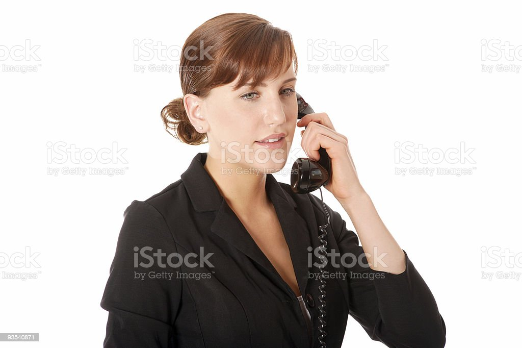 Business woman on phone royalty-free stock photo