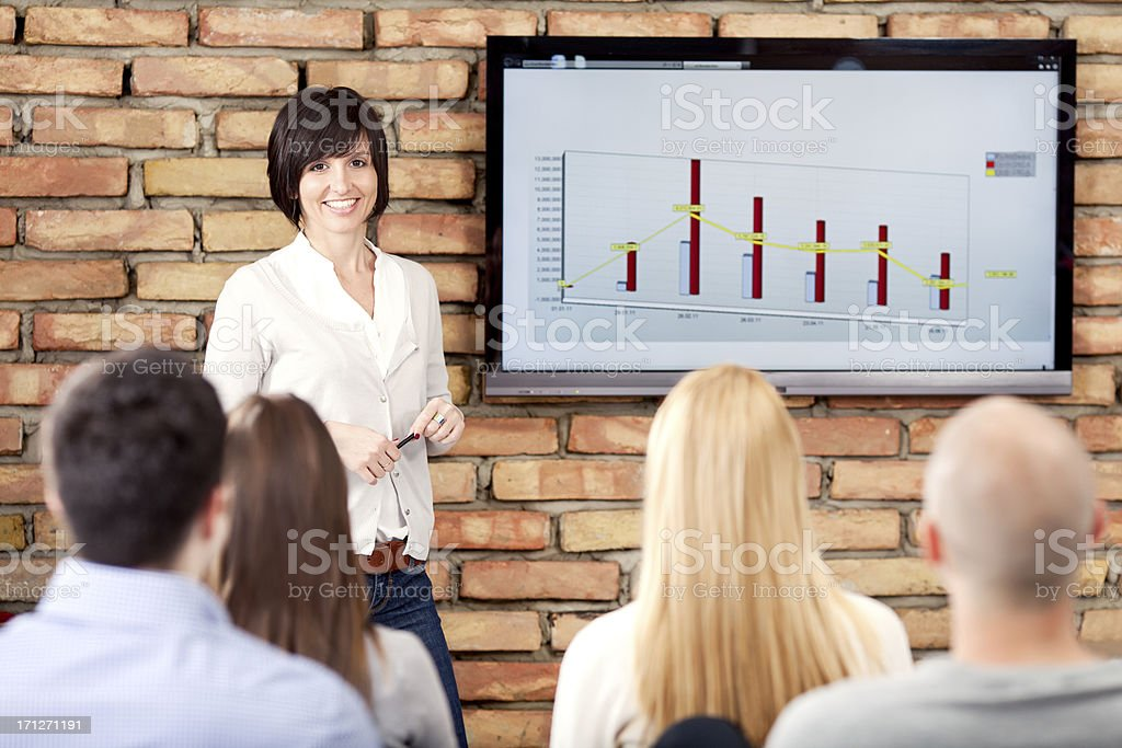 Business Woman On Presentation royalty-free stock photo
