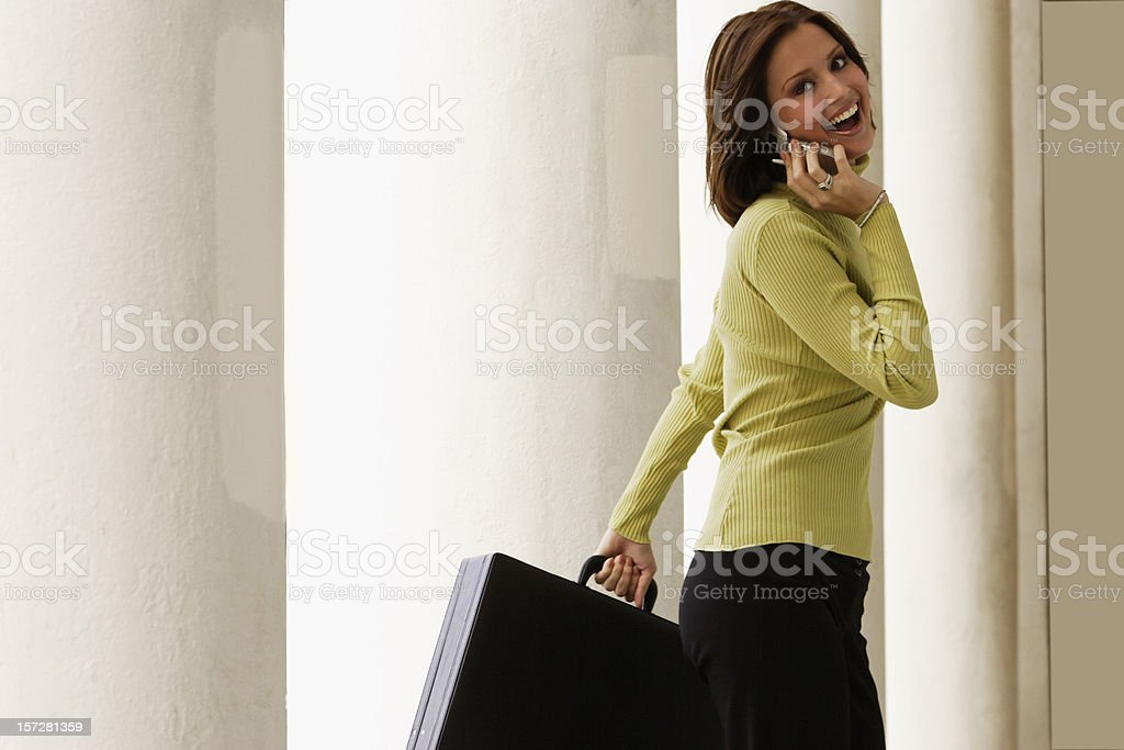 Business Woman on the Go royalty-free stock photo