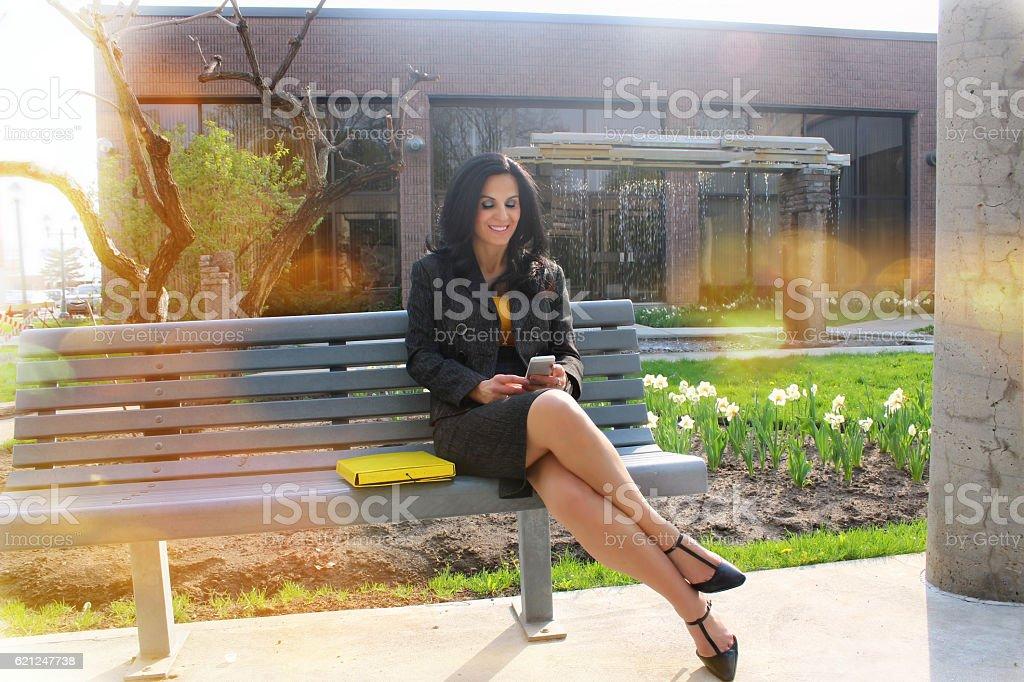 Business woman outside stock photo