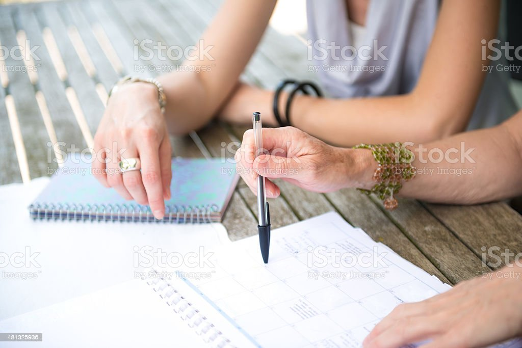 Business woman plan their business stock photo