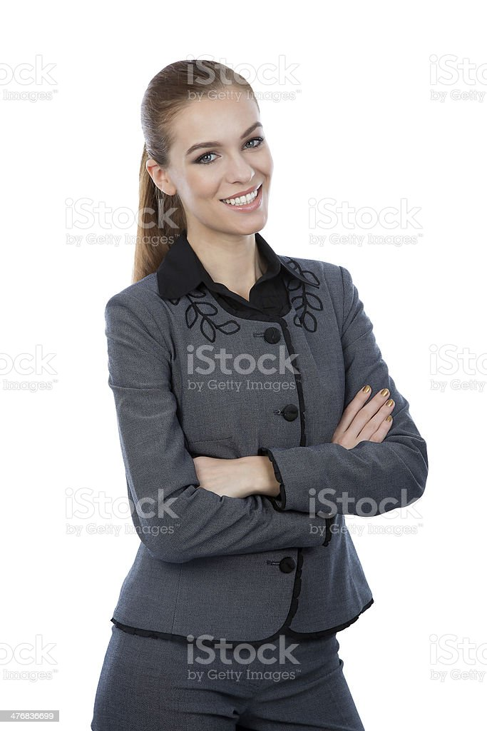 Business woman portrait. Arms crossed, confident smile. royalty-free stock photo