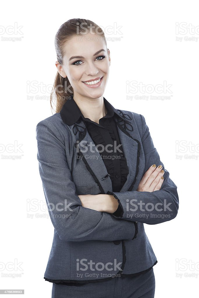 Business woman portrait. Arms crossed. royalty-free stock photo