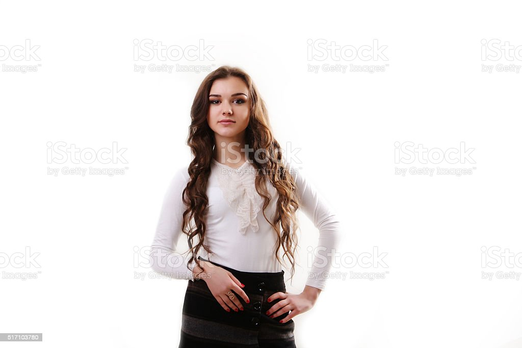 Business woman portrait . Crossed arms royalty-free stock photo