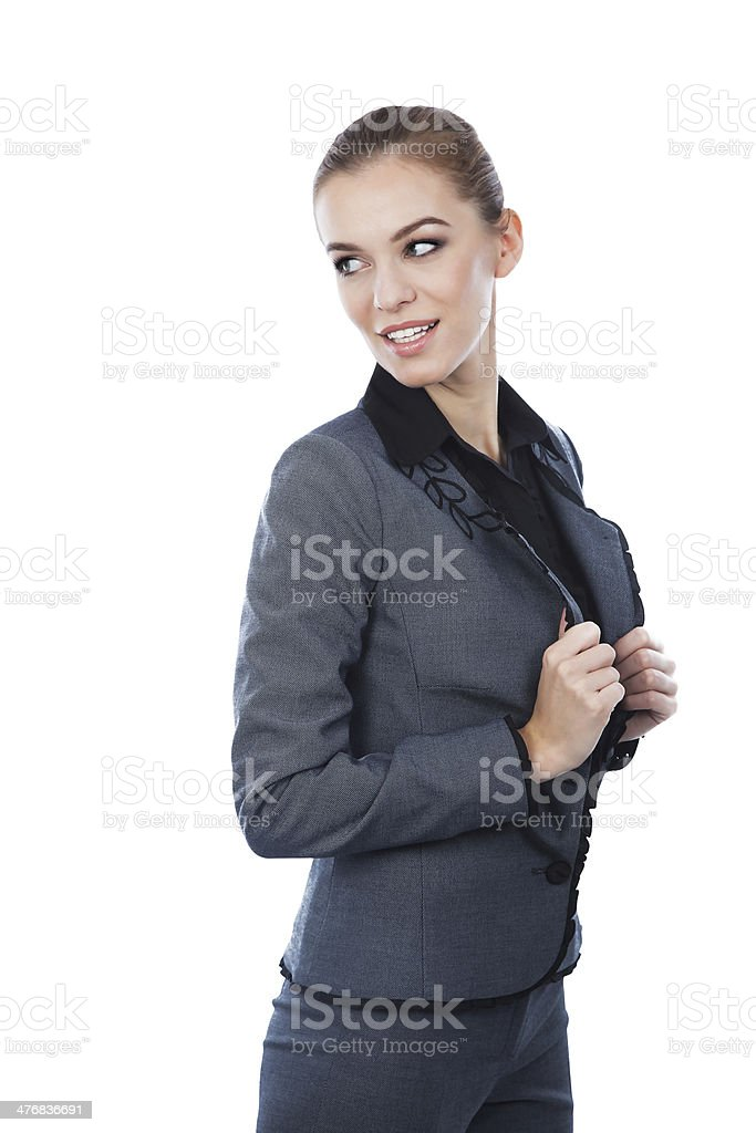 Business woman portrait. Looking back. royalty-free stock photo