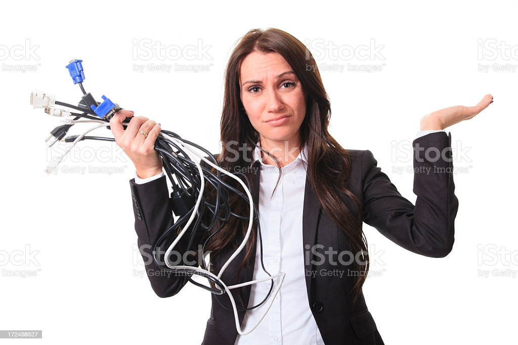 Business Woman Portrait - Wire Don't Know royalty-free stock photo