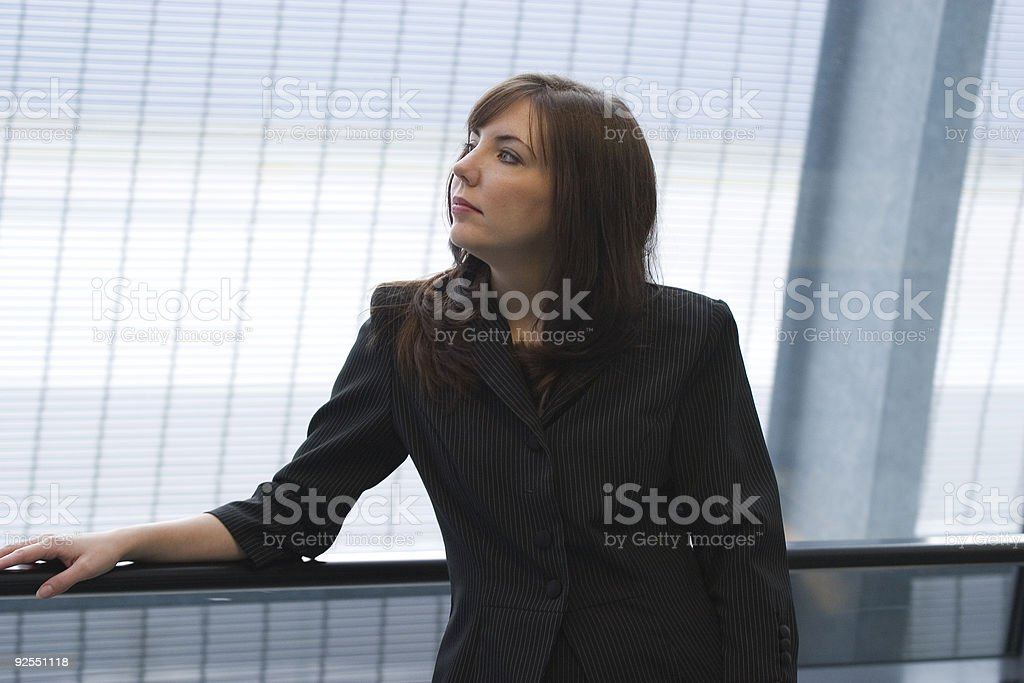 Business Woman Posing in Airport stock photo