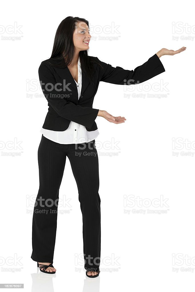 Business woman presenting royalty-free stock photo