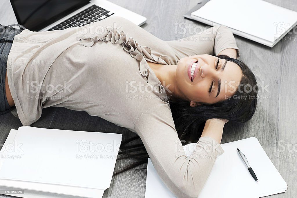 Business woman relaxing. royalty-free stock photo