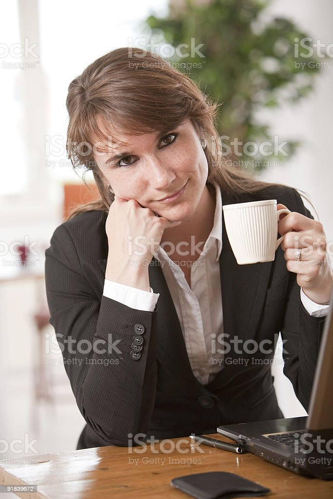 Business woman resting royalty-free stock photo