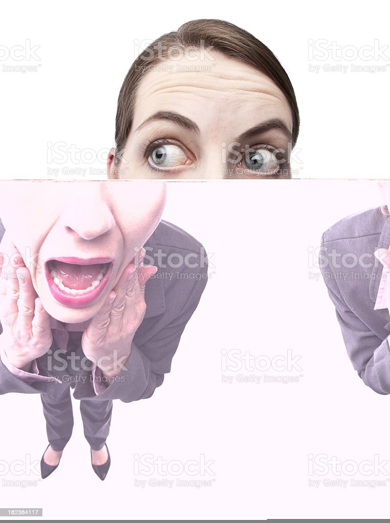 Business Woman Screaming royalty-free stock photo