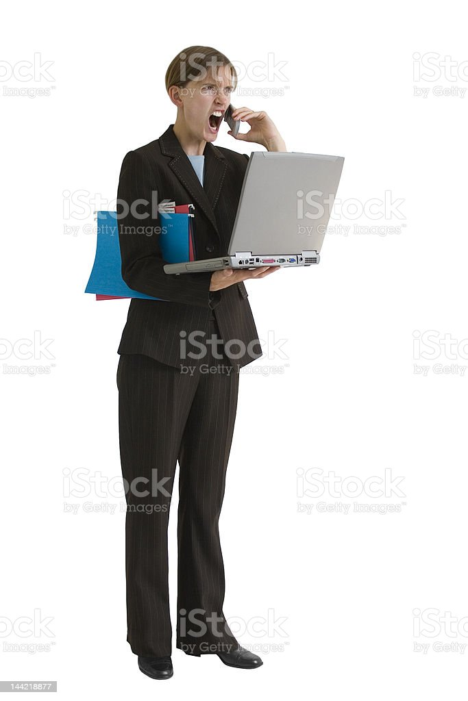 Business Woman Series - Stressed Out royalty-free stock photo