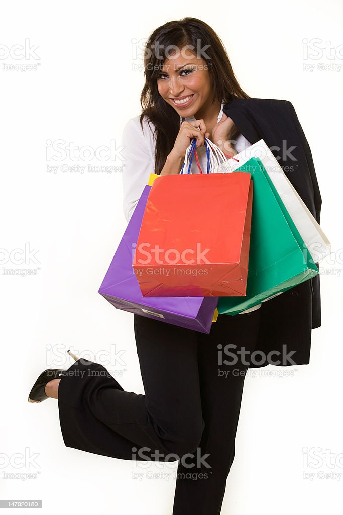 Business woman shopping royalty-free stock photo