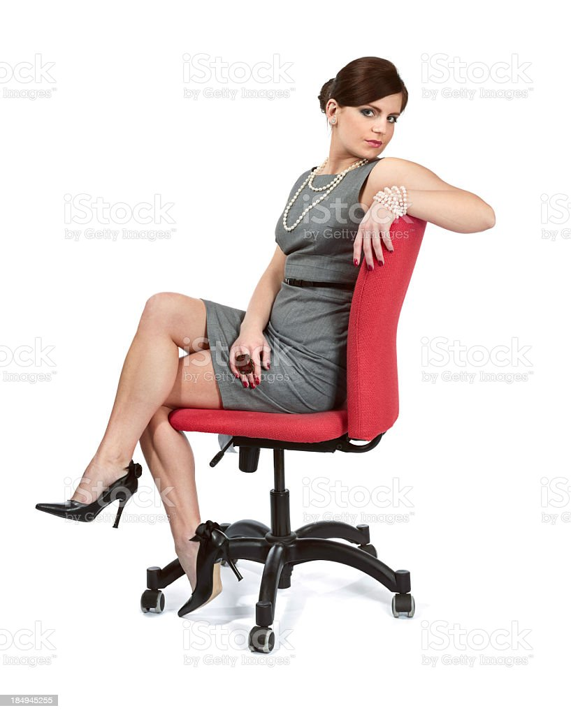 nude women sitting in chairs