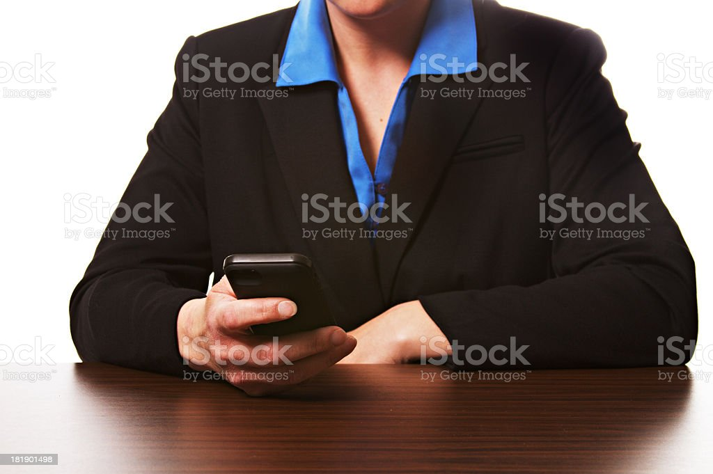 Business Woman Smart Phone royalty-free stock photo