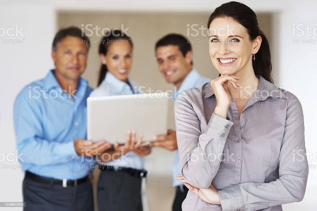 Business woman smiling royalty-free stock photo