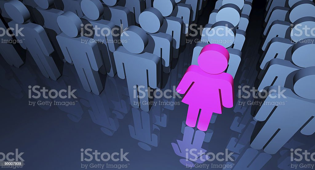Business Woman Stand Out royalty-free stock photo