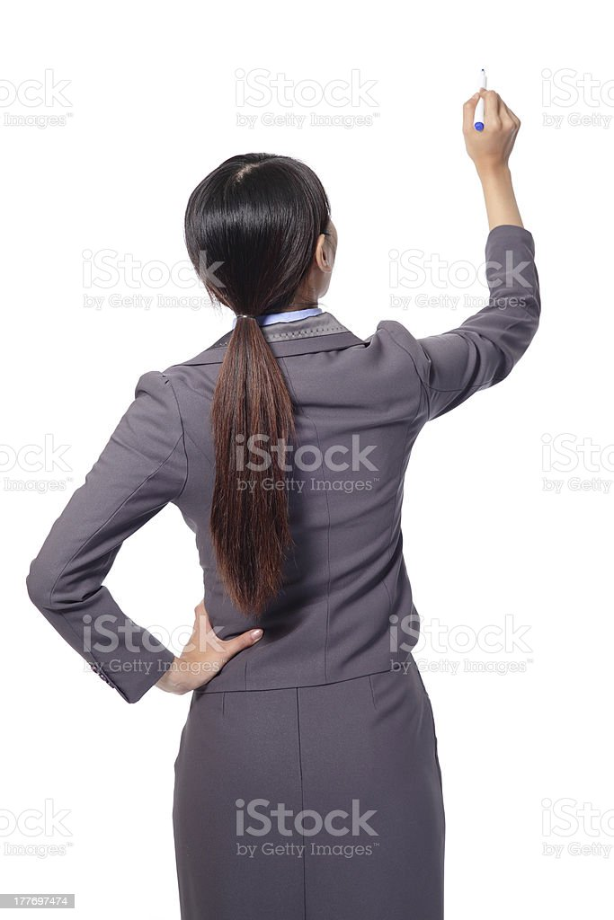 business woman  standing to the back side royalty-free stock photo