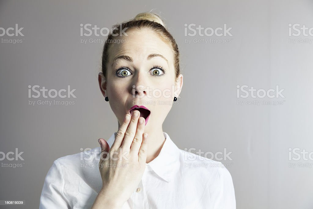 business woman surprise royalty-free stock photo