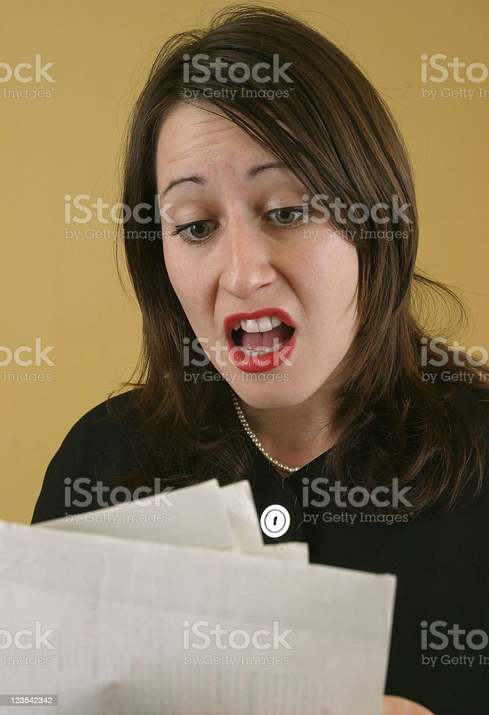 Business woman surprised royalty-free stock photo