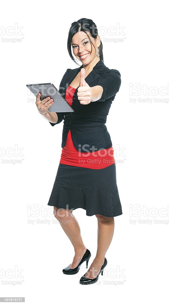 Business Woman - Tablet Positive royalty-free stock photo