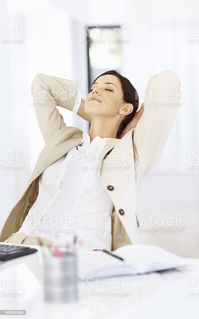 Business woman taking a break royalty-free stock photo