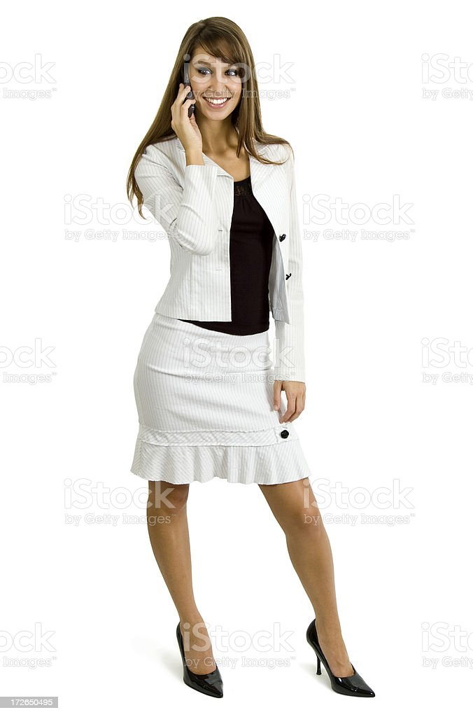 business woman talking on phone royalty-free stock photo