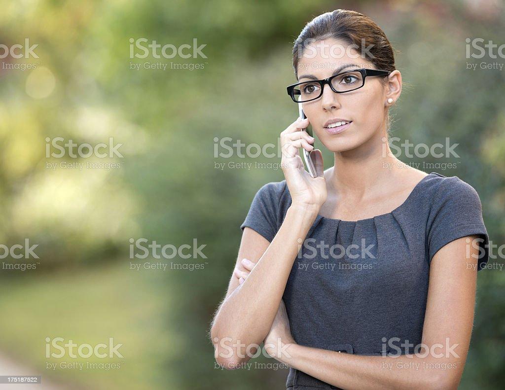 Business Woman talking on the Smart Phone (XXXL) stock photo
