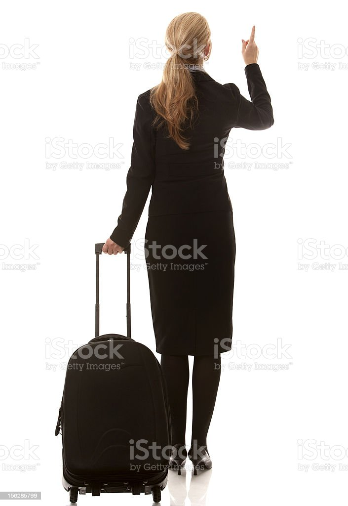 business woman travelling royalty-free stock photo