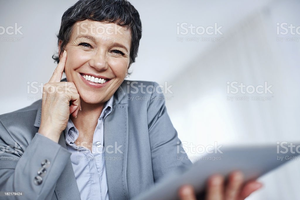 Business woman using digital tablet royalty-free stock photo
