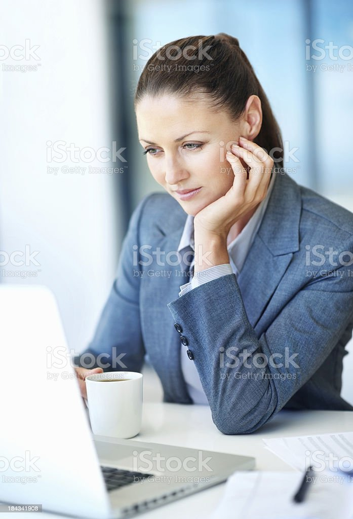 Business woman using laptop royalty-free stock photo
