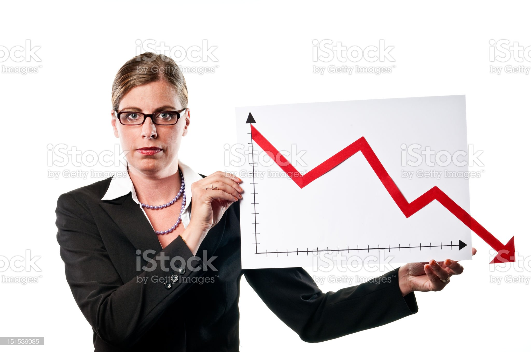 Business woman with chart royalty-free stock photo