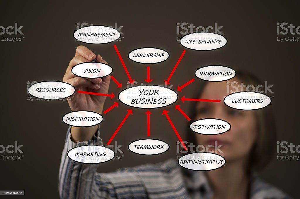 Business Woman With Chart stock photo
