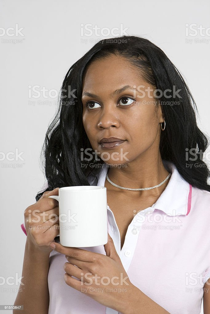 Business Woman With Coffee royalty-free stock photo