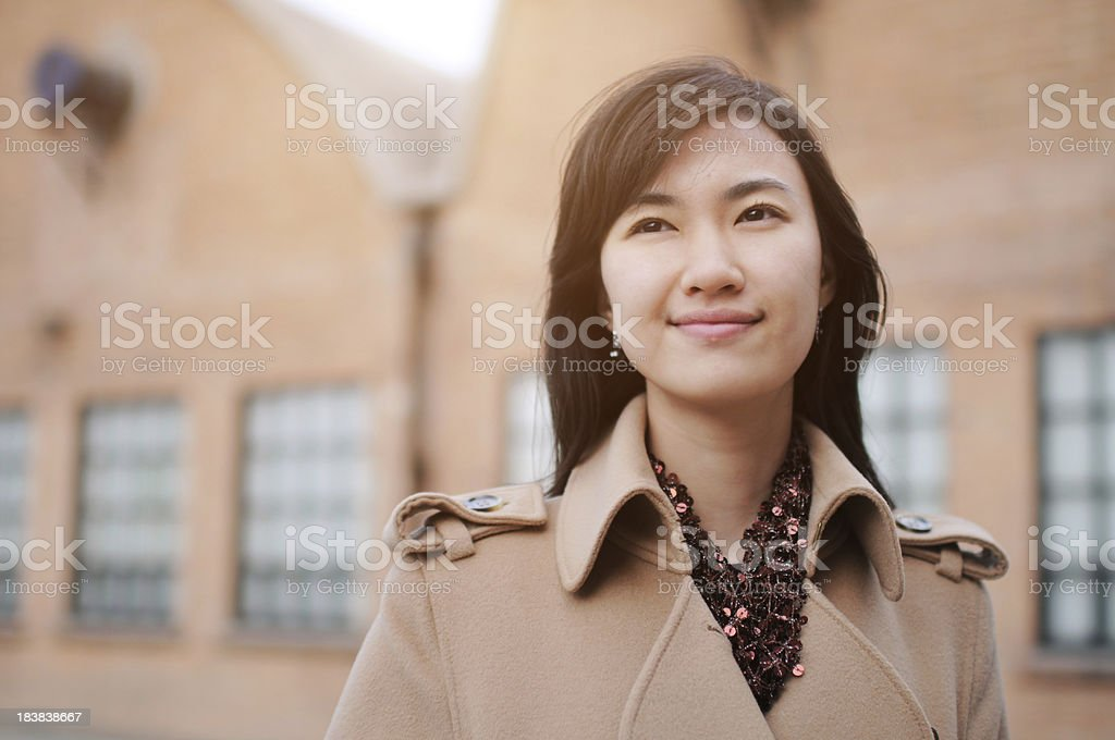 Business Woman With Factory Background - XLarge stock photo