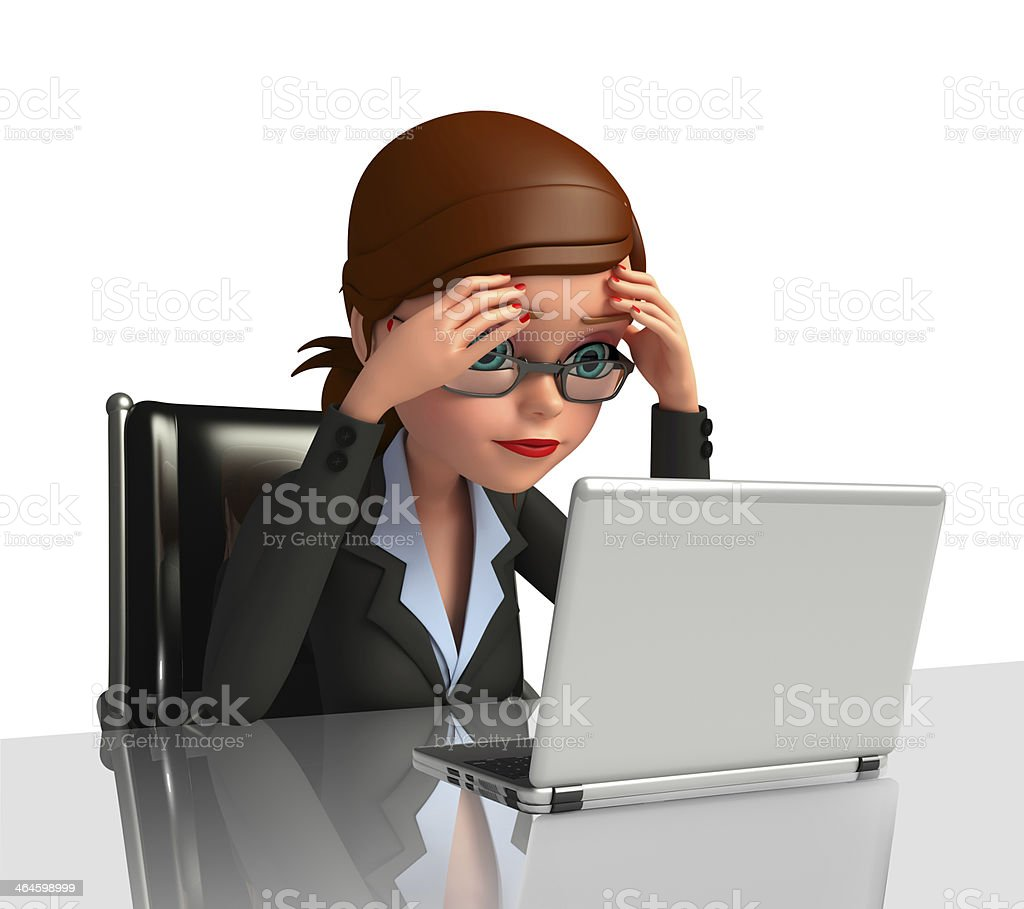 Business Woman with laptop stock photo