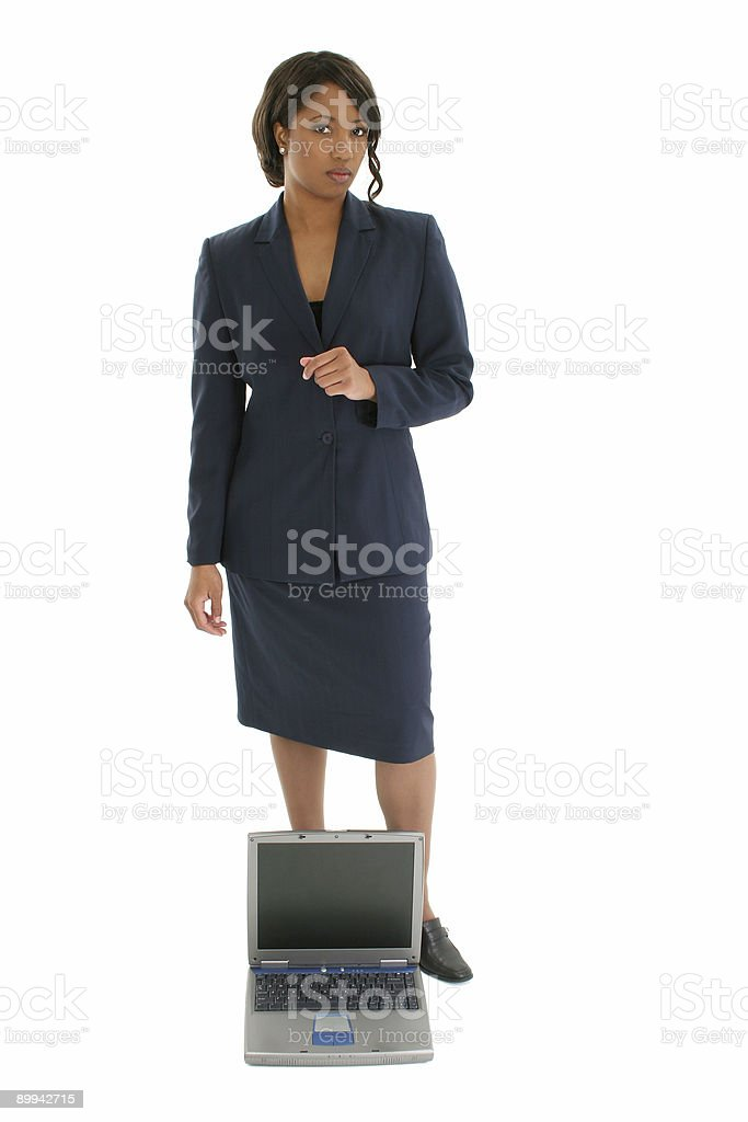 Business Woman With Laptop royalty-free stock photo