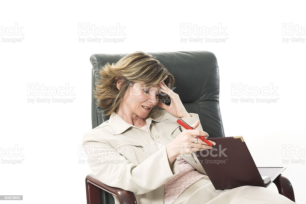 business woman with migraine royalty-free stock photo