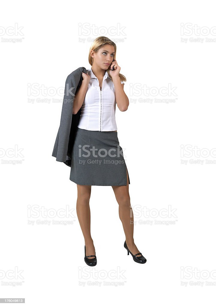 business woman with mobile phone royalty-free stock photo