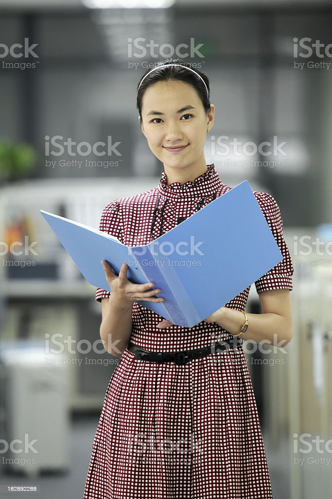 Business Woman With Office Background - XLarge royalty-free stock photo