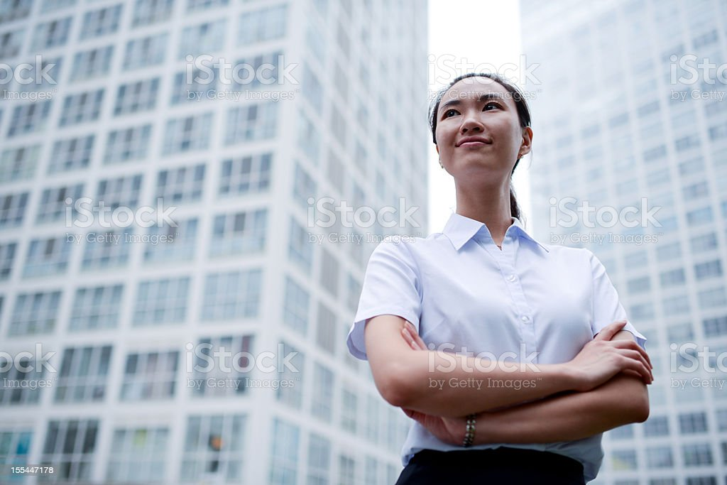 Business Woman with Office Building Backgrounds - XXXXXLarge royalty-free stock photo