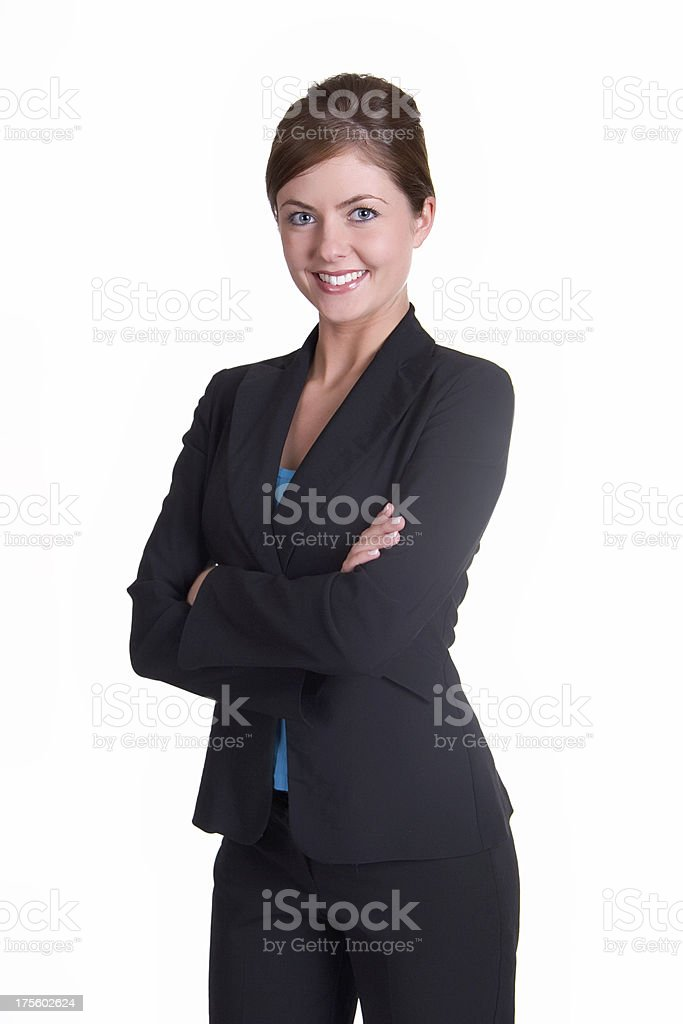 Business woman with smile royalty-free stock photo