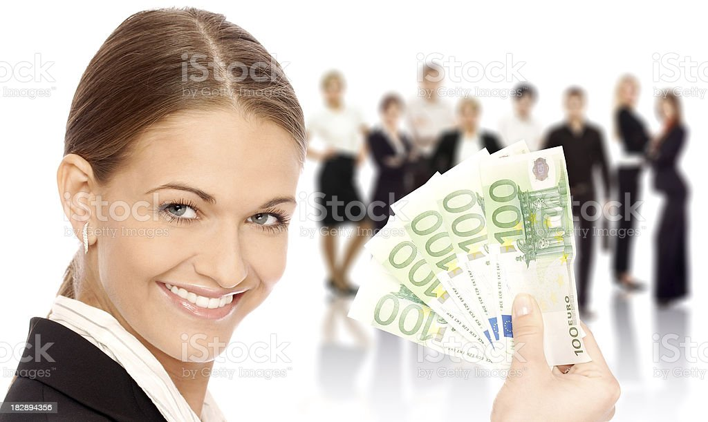 Business woman with team royalty-free stock photo