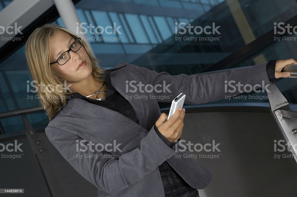 Business woman with the phone royalty-free stock photo