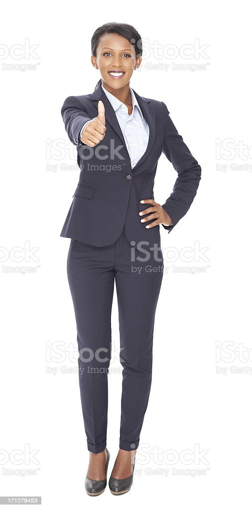 Business woman with thumbs up. royalty-free stock photo