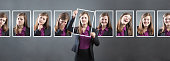Business Woman with Various Personality, Character and Emotional Expressions