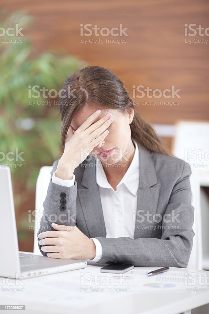 Business woman working at office. royalty-free stock photo